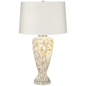 Pacific Coast Lighting Table Lamps Mother Of Pearl Table Lamp W/Nitelight