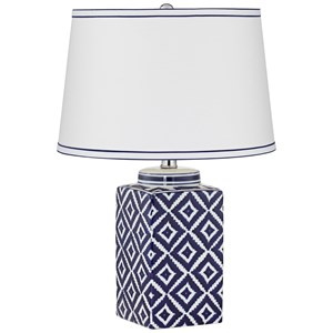 Pacific Coast Lighting Table Lamps KIE Diamond Blue Pattern Lamp