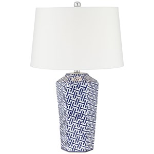 Pacific Coast Lighting Table Lamps KIE Blue Ceramic Lamp
