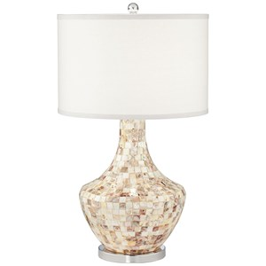 Pacific Coast Lighting Table Lamps Mother Of Pearl Vase Lamp W/Nitelight