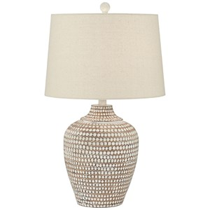 Pacific Coast Lighting Table Lamps Resin Hammered Lamp