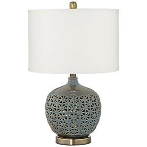 Pacific Coast Lighting Table Lamps Mororccan Ceramic Lamp With  Nitelight