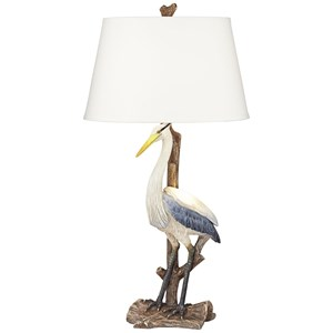 Pacific Coast Lighting Table Lamps Standing Heron Lamp With Nitelight