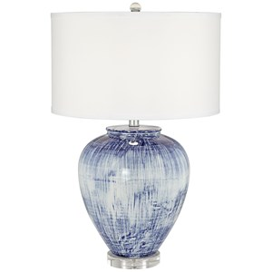 Pacific Coast Lighting Table Lamps Big Blue Ceramic Vase Lamp