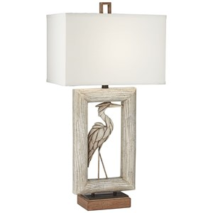 Pacific Coast Lighting Table Lamps Egret Faux Wood Lamp