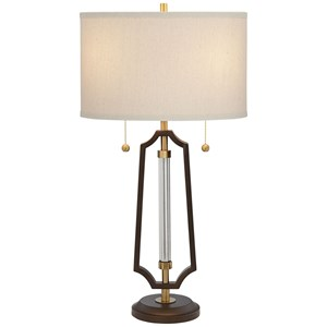 Pacific Coast Lighting Table Lamps Metal & Glass Lamp
