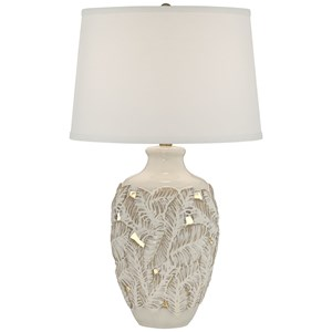 Pacific Coast Lighting Table Lamps Leaf Ceramic Lamp With Nightlight