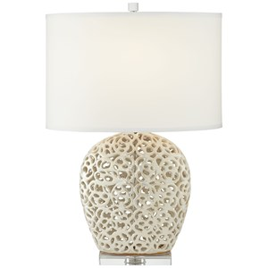 "Pacific Coast Lighting Table Lamps 26"" Oval Pearlescent Lamp"