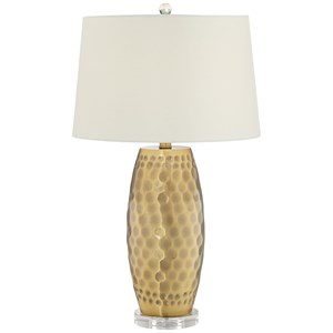 Pacific Coast Lighting Table Lamps Ant Brass Dimpled Metal Lamp