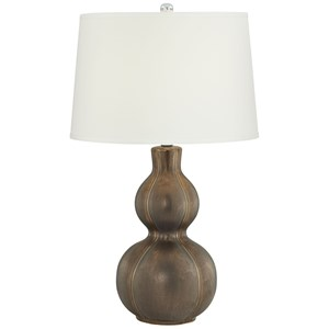"Pacific Coast Lighting Table Lamps 28""H Plated Coffee Ceramic Lamp"