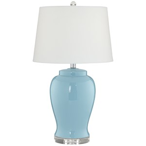 Pacific Coast Lighting Table Lamps Powder Blue Ceramic Lamp