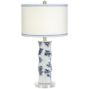 Pacific Coast Lighting Table Lamps KIE Ceramic Blue & White Lamp