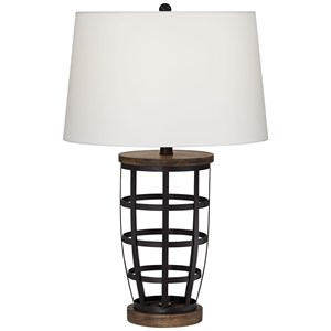 Pacific Coast Lighting Table Lamps Metal Cage Lamp