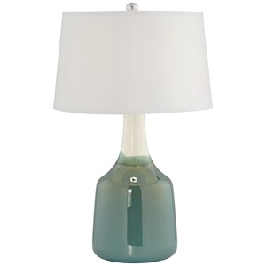 "Pacific Coast Lighting Table Lamps 26"" Jade Green Ceramic Lamp"