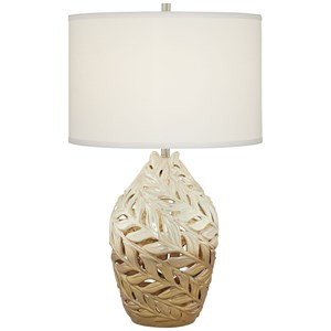 Pacific Coast Lighting Table Lamps Twisted Leaves Ceramic Lamp