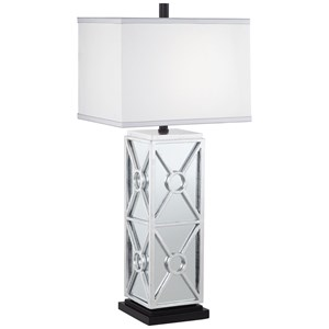 Pacific Coast Lighting Table Lamps KIE Silver Leaf Metal & Mirror Lamp