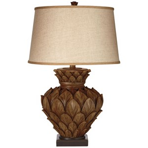 Pacific Coast Lighting Table Lamps Artichoke W/Square Base Table Lamp
