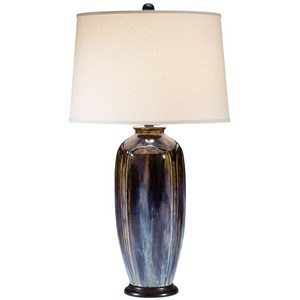 Pacific Coast Lighting Table Lamps Ceramic Jar W/Metal Base Table Lamp