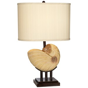 Pacific Coast Lighting Table Lamps Kaanapali Seashell Table Lamp