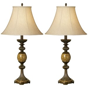 Pacific Coast Lighting Table Lamps Kathy Ireland Riviera Table Lamp 2-Pack