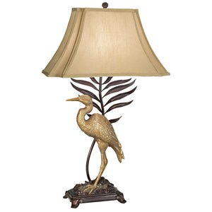 Pacific Coast Lighting Table Lamps Kig Whispering Palms Table Lamp
