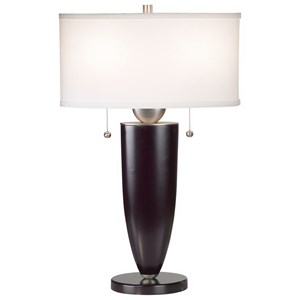 Pacific Coast Lighting Table Lamps Deco Steel & Wood-Mahogany Table Lamp