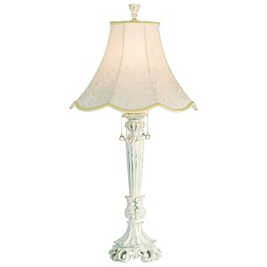 Pacific Coast Lighting Table Lamps Chateau De Bordeaux - White Table Lamp
