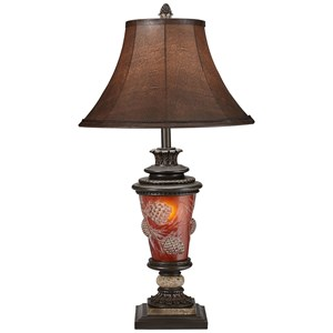 Pacific Coast Lighting Table Lamps Pine Cone Glow Table Lamp