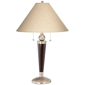 Pacific Coast Lighting Table Lamps Downtown Table Lamp-Mahogany