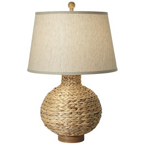 Pacific Coast Lighting Table Lamps Seagrass Bay Round Table Lamp