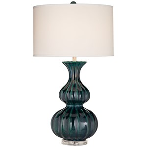 Pacific Coast Lighting Table Lamps Avenal - Blue W/Green Table Lamp