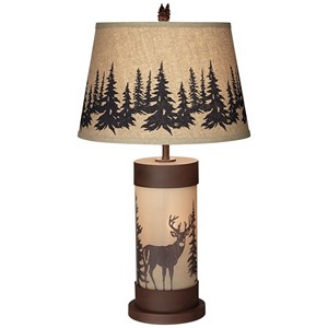 Pacific Coast Lighting Table Lamps Whitetail Deer Table Lamp