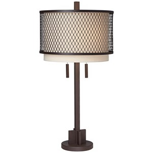 Pacific Coast Lighting Table Lamps Industrial Double Shade Table Lamp