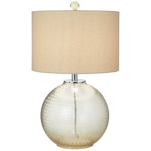 "Pacific Coast Lighting Table Lamps 25"" Glass W/Bubble Pattern Table Lamp"