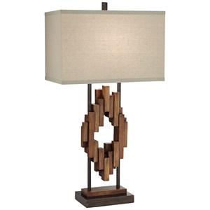 Bonanza Wood Tones Table Lamp