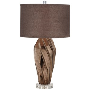 Pacific Coast Lighting Table Lamps Twist Metallic Faux Stone Table Lamp