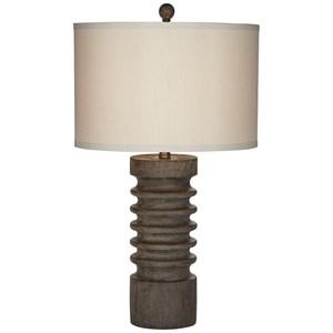 Column Faux Wood Table Lamp