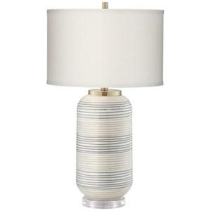 Striped Adler Table Lamp