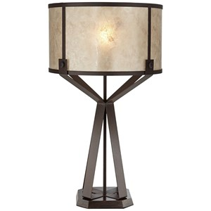 Metal Table Lamp With Micah Shade