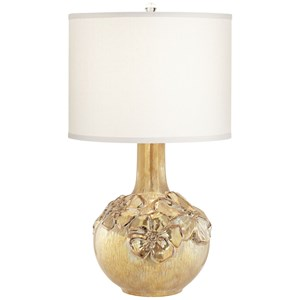 Pacific Coast Lighting Table Lamps Ceramic Poppy Gold Color Table Lamp