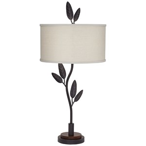 Pacific Coast Lighting Table Lamps Cast Iron Leaves And Twigs Table Lamp