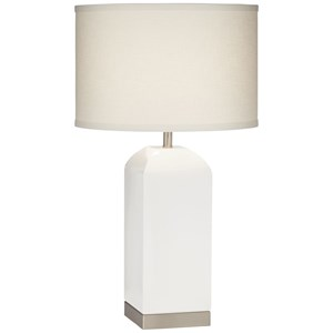 Pacific Coast Lighting Table Lamps Milk Box White Table Lamp