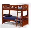 Pacific Manufacturing Cinnamon  Twin over Twin Bunk Bed - Item Number: PBH-CIN-CH Cinnamon-Cherry