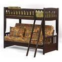 Pacific Manufacturing Cinnamon Twin over Futon Bunkbed - Item Number: SB-CIN-CHO