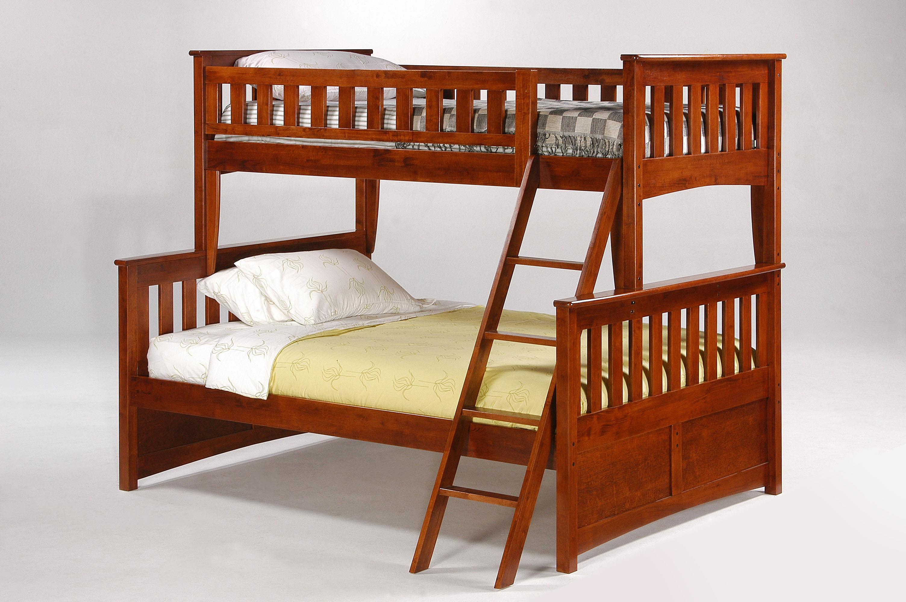 Pacific Manufacturing Ginger Twin over Full Bunk Bed - Item Number: PBTF1-GIN-CH Ginger-Cherry