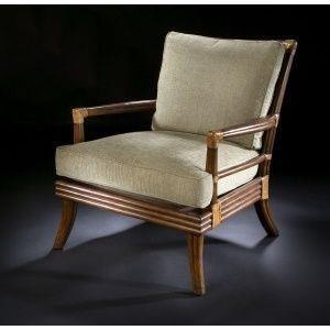 C.S. Wo & Sons Panama III Chair - Item Number: PANAMA III CHR W CUSH PKG