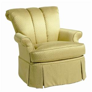 Charmant 4011 Skirted Chair With Tufted Back By Paladin