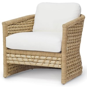Accent Chairs by Palecek Capitola Woven Rattan and Lampakani Lounge Chair  by Palecek