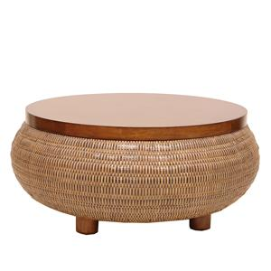 Occasional Tables Split-Tone Woven Coffee Table by Palecek