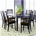 Palettes by Winesburg Romeo Customizable 7 Pc. Table Set - Item Number: 3648A1 L1EF+2x1802+4x1804